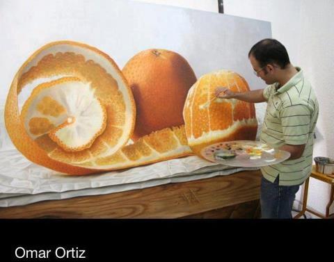 Harika 3 boyutlu portokal çizimi.