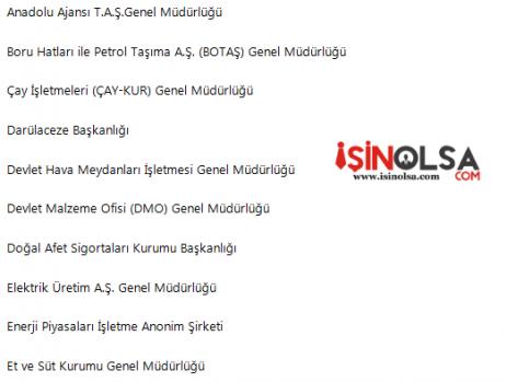 Taşeron Yasasında Kadro Alamayacak 56 Kurum Listesi