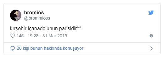 Çorumdan seken Paris' lik, Kırşehir' e geldi.