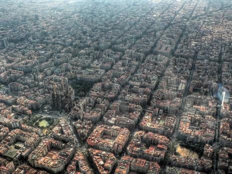 Barcelona Şehri Yerleşim Düzeni