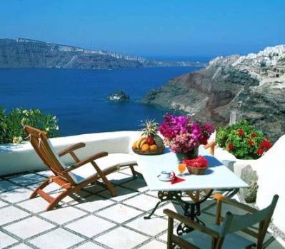 , Santorini'de muhteşem kahvaltı!