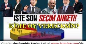 2018 Cumhurbaşkanlığı Seçim Anketi! Kime Oy Vereceksiniz?