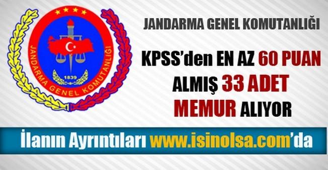 Jandarma Genel Komutanlığı Memur Alımı 2015