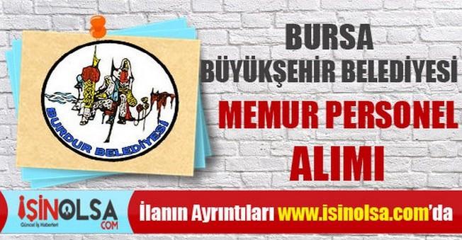 Bursa Büyükşehir Belediyesi Memur Personel Alımı