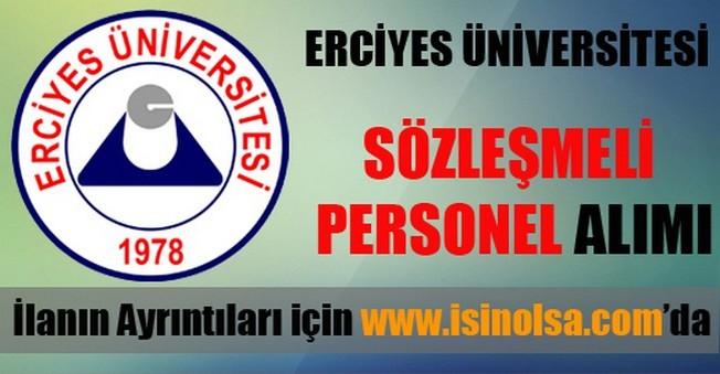 Erciyes Üniversitesi Sözleşmeli Eleman Alımı