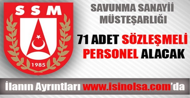 Savunma Sanayii Müsteşarlığı Sözleşmeli Personel Alımı 2014