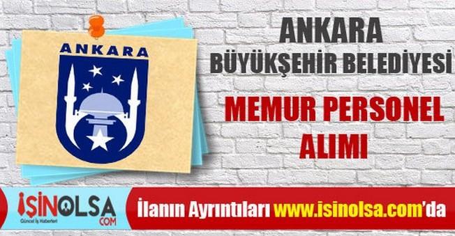 Ankara Büyükşehir Belediyesi Memur Personel Alımı