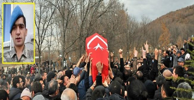 13 bin kişi Şehit uzman çavuşu uğurladı
