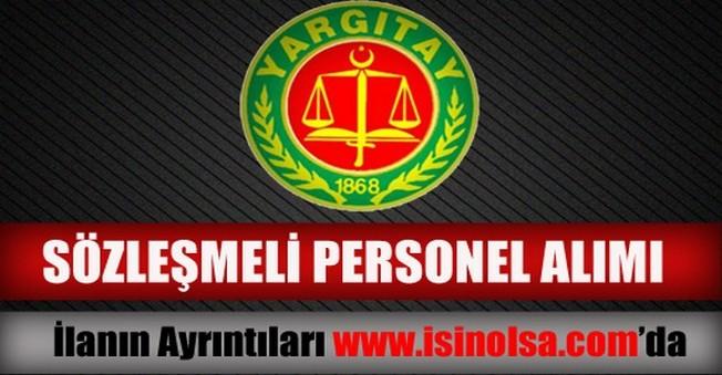 Yargıtay Sözleşmeli Personel Alımı