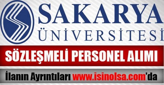 Sakarya Üniversitesi Sözleşmeli Personel Alımı 2015