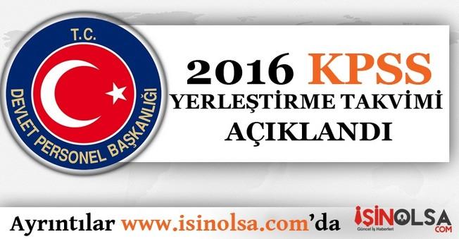 2016 KPSS Yerleştirme Takvimi DPB Tarafından Açıklandı