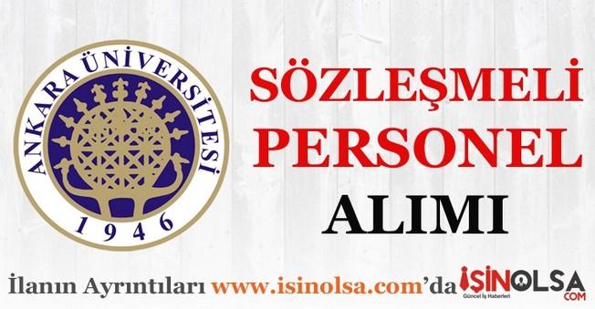 Ankara Üniversitesi Sözleşmeli Personel Alımı 2016