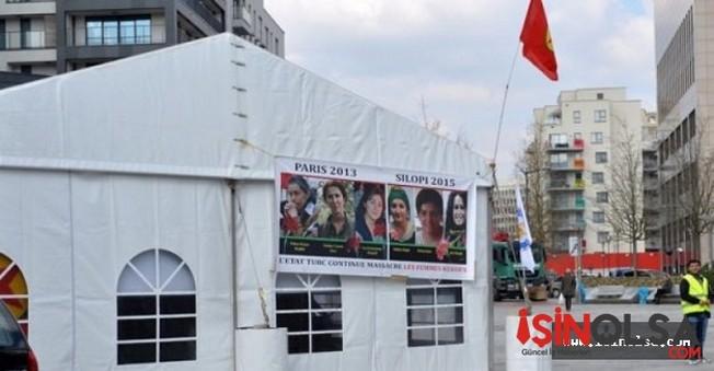 Belçika'daki PKK Çadırı Boşaltıldı!