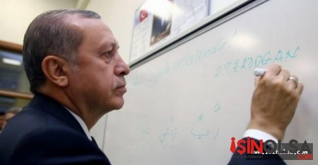 Erdoğan Öğrencilerle Beraber Ders Dinledi!