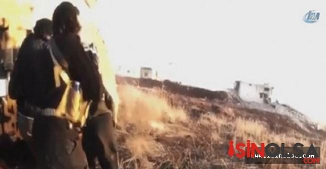 İŞİD'li terörist kendi ölümünü çekti