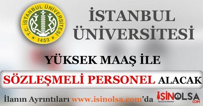 İstanbul Üniversitesi Sözleşmeli Personel Alımı 2016