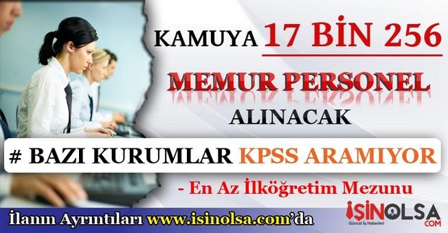 Kamu'ya 17 Bin 256 Memur Personel Alımı