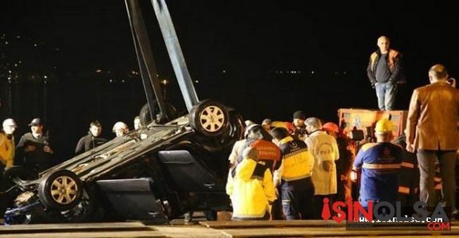 Kireçburnu sahilinde Denize uçan otomobilden cesetler çıkarıldı