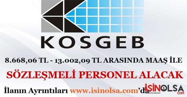 KOSGEB Sözleşmeli Personel Alımı 2016