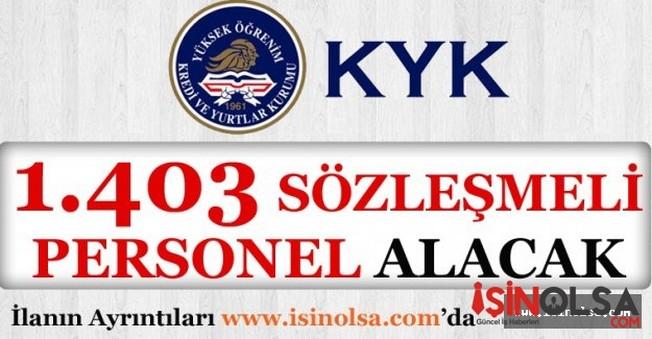 KYK 1,403 Sözleşmeli Personel Alacak