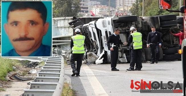 Cam'dan Fırlayan Tır şoförü Hayatını Kaybetti!