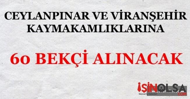 Ceylanpınar ve Viranşehir Kaymakamlarına 60 Bekçi Alınacak