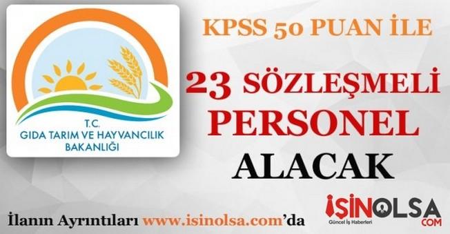 Gıda Tarım ve Hayvancılık Bakanlığı KPSS 50 Puan ile Personel Alacak