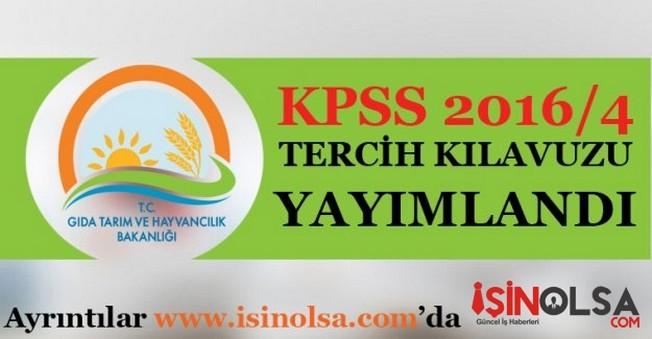 KPSS 2016/4 tercih kılavuzu yayımlandı!