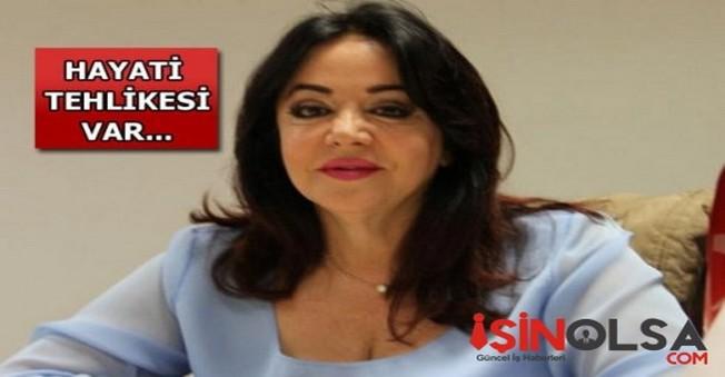 Aort damarı yırtılan Oya Aydoğan Hastaneye Kaldırıdı