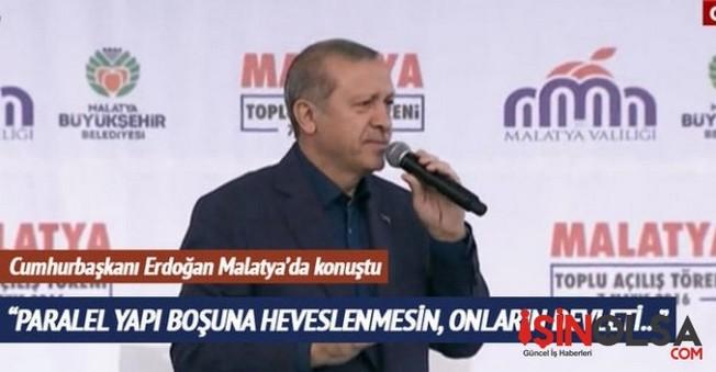 Cumhurbaşkanı Erdoğan Malatya'ya Konuştu