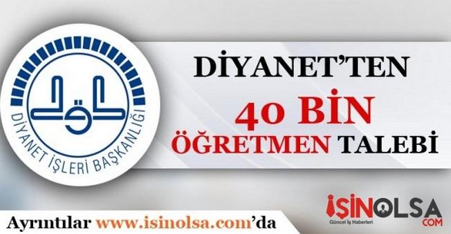 Diyanet'ten 40 Bin Öğretmen Talebi