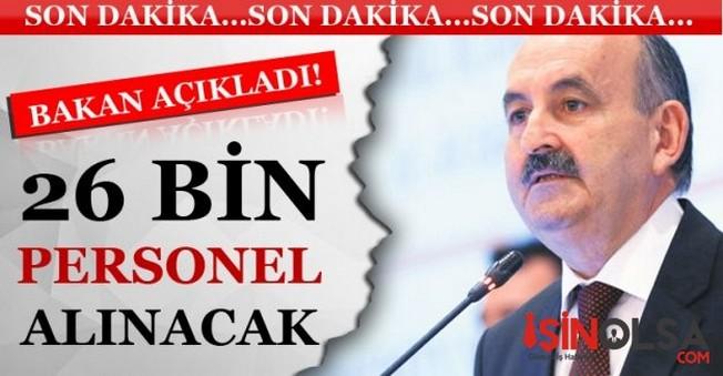 Mehmet Müezzinoğlu 26 Bin Sağlık Personeli Alınacağını Açıkladı
