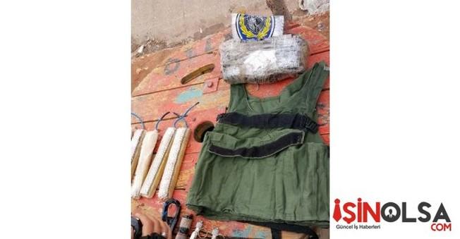 Şanlıurfa'da üzerlerinde patlayıcı madde bulunan 2 adet intihar yeleği buldu