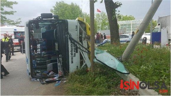 Şoför Kalp Krizi Geçirdi Otobüs Devrildi!