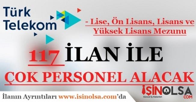 Türk Telekom 117 İlan ile Personel Alacak