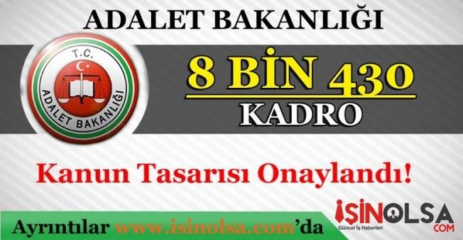 Adalet Bakanlığı 8 Bin 430 Personel Alacak
