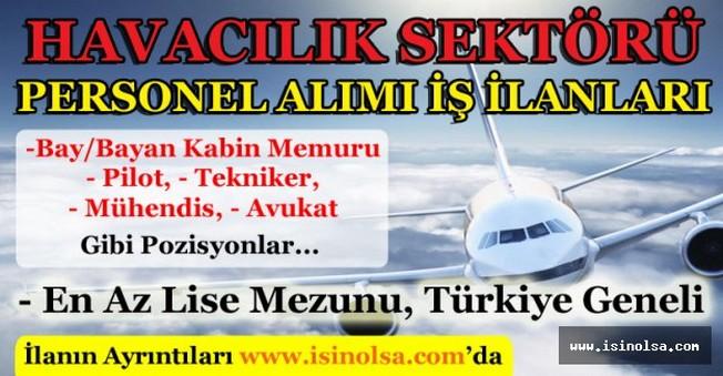 Havacılık Sektörü Personel Alımı İş İlanları