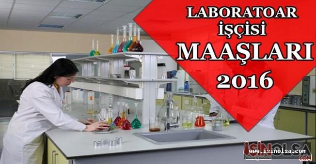 Laboratuvar İşçisi Maaşları 2016