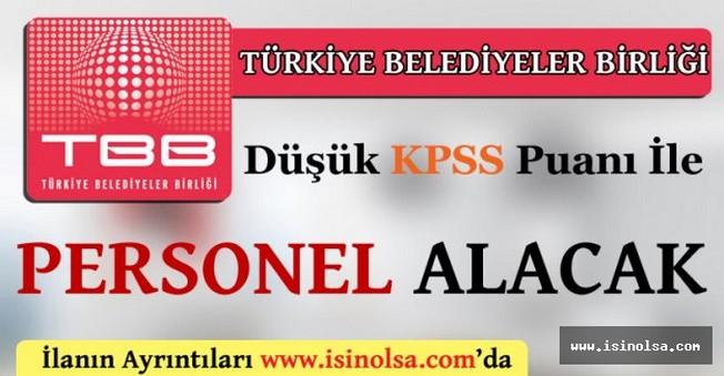 Türkiye Belediyeler Birliği Personel Alımı 2016