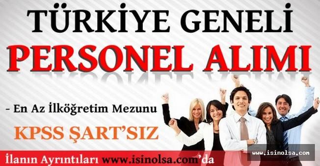 Türkiye Geneli Personel Eleman Alımları