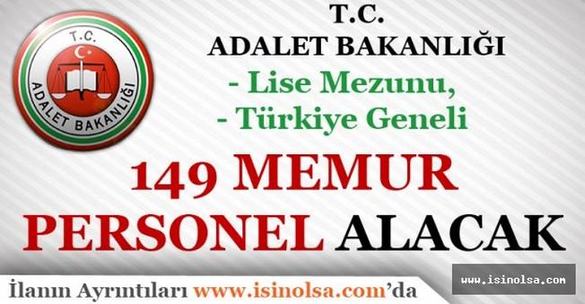 Adalet Bakanlığı 149 Memur Personel Alacak