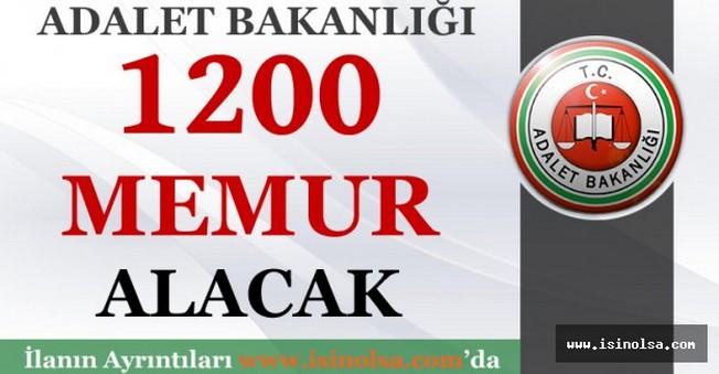 Adalet Bakanlığı Bin 200 Memur Alacak