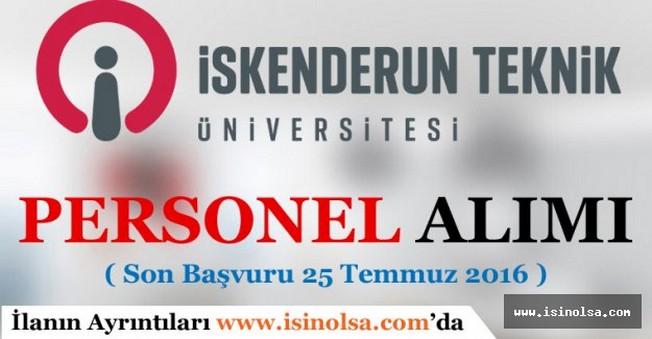 İskenderun Teknik Üniversitesi Personel Alımı