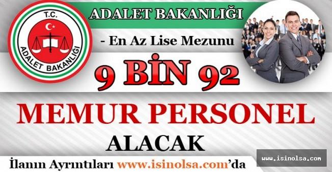 Adalet Bakanlığı 9 bin 92 Memur Personel Alacak