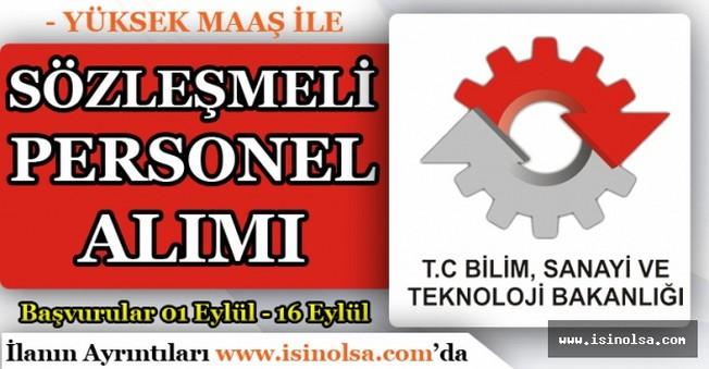 Bilim, Sanayi ve Teknoloji Bakanlığı Sözleşmeli Personel Alımı