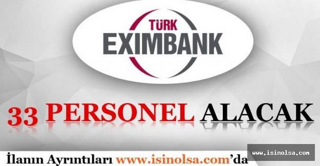 Eximbank Memur Personel Alımı 2016
