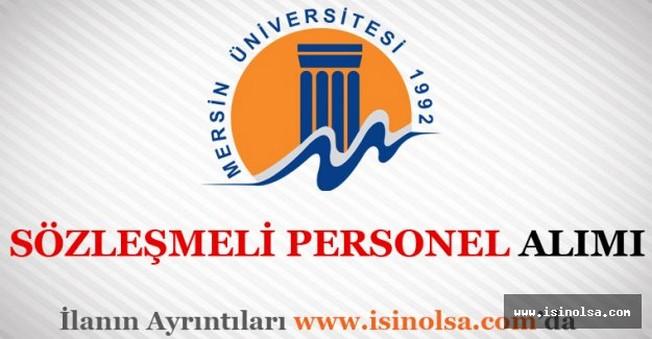 Mersin Üniversitesi Sözleşmeli Personel Alımı