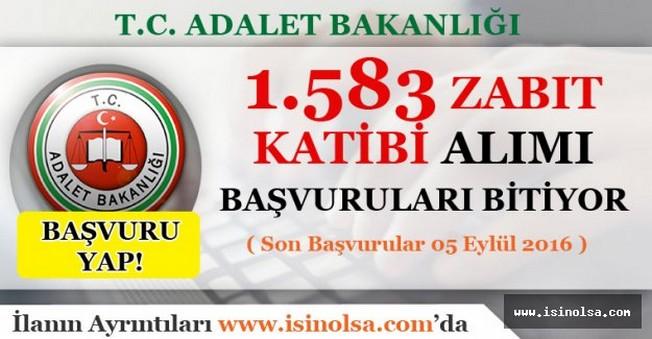 Adalet Bakanlığı Zabıt Katibi Alımı Başvuruları Bitiyor - Son Başvurular 05 Eylül