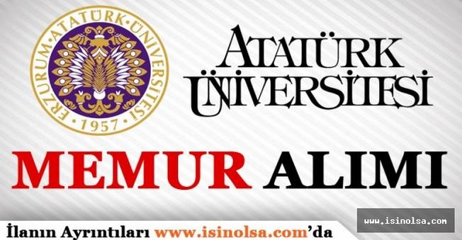 Atatürk Üniversitesi Memur Personel Alımı