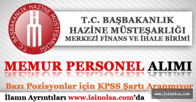 Hazine Müsteşarlığı MFİB Memur Personel Alımı